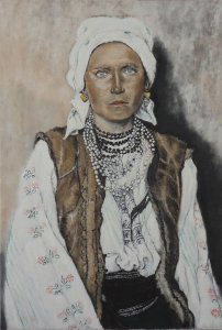 Ruthenian Gypsy Woman (after: Ellis Island Portraits, F. Sherman, 1923)